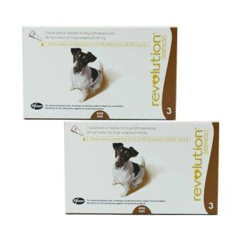 Revolution ยาหยอดกำจัดเห็บ หมัด สุนัข น้ำหนัก 5.0-10.0kg บรรจุ 3 หลอด ( 2 units )