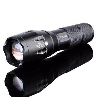Turbo Light Ultrafire 2200Lm CREE XML T6 LED Zoomable Flashlight Torch 5 Modes เทอร์โบ ไลท์ ไฟฉาย แรงสูง ซูมได้ แถมอุปกรณ์ครบชุด ซื้อ 1 แถม 1