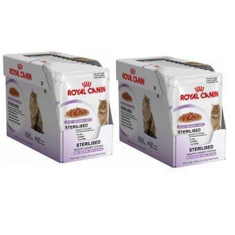 Royal Canin Sterilised in Jelly 24 Units โรยัลคานิน อาหารแมวเปียก สูตรสำหรับแมวทำหมัน (24 ซอง)
