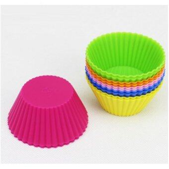 Pinkhomebakery ถ้วยคัพเค้กซิลิโคน 5 cm. สุ่มสี(แพคละ 12 ชิ้น)
