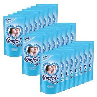ขายยกลัง! COMFORT คอมฟอร์ท น้ำยาปรับผ้านุ่ม ถุงเติม 600 มล. – สีฟ้า (ทั้งหมด 24 ถุง) (image 1)