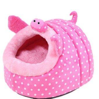 LALANG Pet Bed House Warm Cushion (Pink)