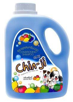 Chinji แชมพูสำหรับสุนัข กลิ่นฟรุ๊ตตี้ สูตรผสมครีมนวด ( 1000ml. )