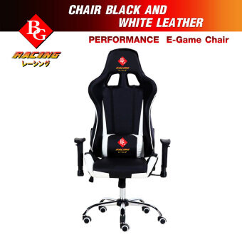 BG เก้าอี้เล่นเกม Raching Gaming Chair รุ่น G1-White
