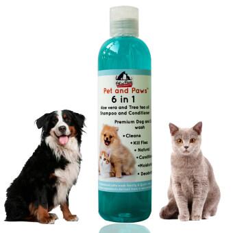Pet and Paws แชมพูผสมครีมนวดสำหรับสุนัขและแมว สูตรอ่อนโยน บำรุงขน ผิว ไม่แพ้ 100%