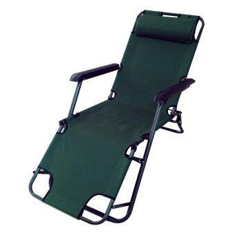 Kantareeya เก้าอี้พักผ่อนปรับเอนได้ 46x150x25cm - สีเขียว