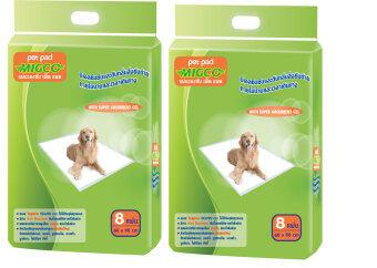 มิกโก้ แผ่นรองซับ ขนาด XL สำหรับสุนัขพันธ์ฝรั่งขนาดใหญ่ จำนวน 8 ชิ้น (แพ็ค 2 ห่อ)
