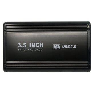 อลูมิเนียม 8.89ซม SATA USB 3.0 ฮาร์ดไดรฟ์ภายนอกฮาร์ดดิสก์ไดรฟ์ดิสก์เคสล้อมรอบด้วยท่าเรือ 2 amps ปลั๊กอะแดปเตอร์ของอังกฤษ