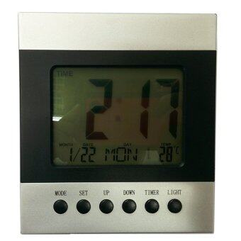 Clock นาฬิกาตั้งโต๊ะ LCD (Blue)