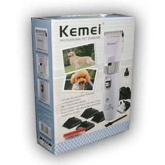 Kemei ปัตตาเลี่ยนตัดขนสุนัขไร้สาย ใบเซรามิค+ไทเทเนียม รุ่น KM-107 (สีขาว) (image 2)
