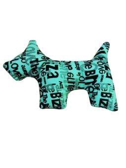 Dogacat ของเล่นสุนัข ของเล่นหมา ของเล่นแมว ตุ๊กตาผ้าสุนัข ลายกราฟฟิกอักษร - สีเขียว