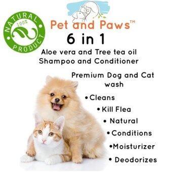 Pet and Paws แชมพูผสมครีมนวดสำหรับสุนัขและแมว สูตรอ่อนโยน บำรุงขน ผิว ไม่แพ้ 100% (image 2)