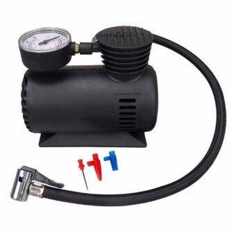 HHsociety ชุดเติมลมยางแบบพกพา Mini Air Compressor 12 Volt รุ่น 11601
