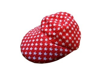 Dogacat หมวกสุนัข หมวกหมา หมวกแมว หมวกแกป ลายดาว size 2 - สีแดง
