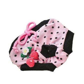 Pet Dog Puppy Diaper Pants Physiological Sanitary Short Panty Nappy Underwear Pink S