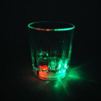 Moonar Creative Home Living Acrylic Plastic LED Flashing Cup Octagonal Pineapple/Coke/Wine Glass (3# Wine Cup) - intl