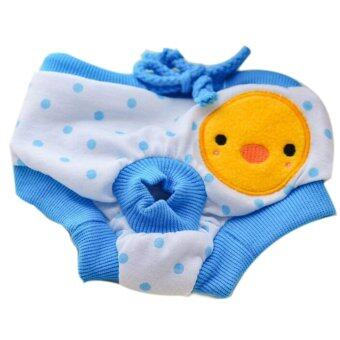 Pet Dog Puppy Diaper Pants Physiological Sanitary Short Panty Nappy Underwear Blue M