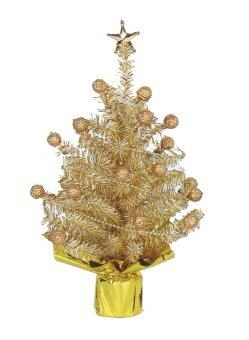 AllMerry Christmas ต้นคริสต์มาสคู่สีทอง+สีเงิน 1ฟุต