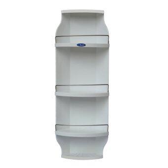 Casero ชั้นวางของในห้องน้ำ ติดผนัง 5 ชั้น - White