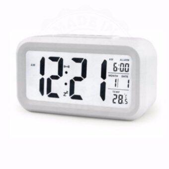 Madeinsure นาฬิกาปลุกตั้งโต๊ะ นาฬิกาปลุกเรื่องแสง นาฬิกาปลุก สีขาว