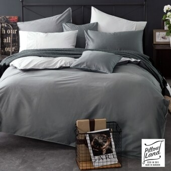 Pillow Land ผ้าปูที่นอน ชุดผ้านวม เกรด A 6 ฟุต 6 ชิ้น - สีล้วน 202