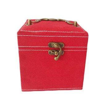 กล่องใส่เครื่องประดับ ผ้ากำมะหยี่ ขนาดใหญ่พิเศษ (สีแดง) (image 1)
