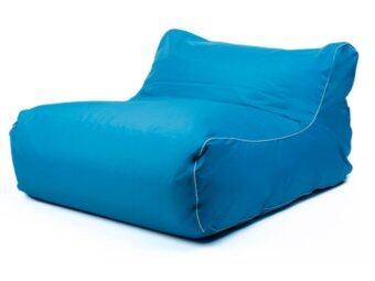 New Brand Bean Bag ทรงโซฟาเดี่ยวหนังเทียม 70x50x40cm - สีฟ้า