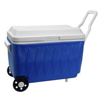 Happy Ware กระติกคูลเลอร์ มีล้อลาก ความจุ 40 ลิตร - สีน้ำเงิน