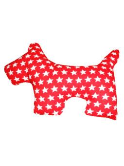 Dogacat ของเล่นสุนัข ของเล่นหมา ของเล่นแมว ตุ๊กตาผ้าสุนัข ลายดาว - สีแดง
