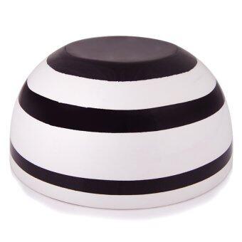 ชามตกแต่ง Tom Mango - รุ่น SOB-M สีขาวดำ ขนาดกลาง