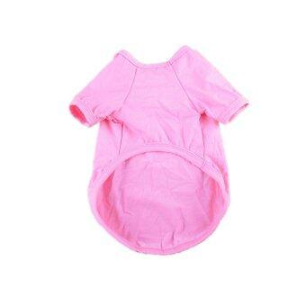 MULBA Clothing for Pet Pet Dog Clothing Cool Dog Shirt Pet Apparel Pink