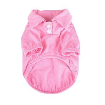 Mulba Clothing for Pet Pet Dog Clothing Cool Dog Shirt Pet Apparel (Pink)
