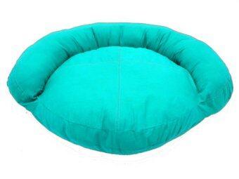 New Brand เบาะนอนน้องหมาหนังเทียมทรงโซฟา (สีฟ้า)