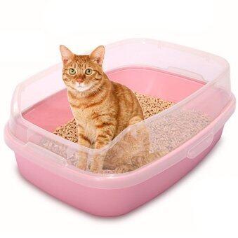 MAKAR กะบะทรายแมว จัมโบ้ AG 46*62 cm. (สีชมพู)