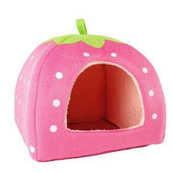 Soft Pet Dog Cat Bed House Kennel Cushion Basket Pink