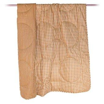 Esse ผ้านวม Twin Comforter-C 60 x 80 นิ้ว - ลายตารางโทนสีน้ำตาล (แถมผ้าขนหนู Delight 16 x 32 นิ้ว)