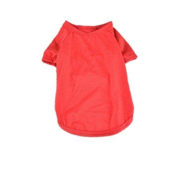 MULBA Clothing for Pet Pet Dog Clothing Cool Dog Shirt Pet Apparel Red
