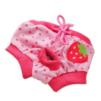 Pet Dog Puppy Diaper Pants Physiological Sanitary Short Panty Nappy Underwear Red S