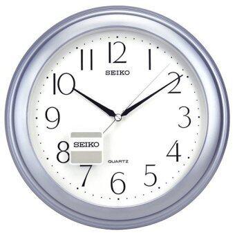 Seiko นาฬิกาแขวนผนัง ขอบพลาสติกสีบอร์นฟ้า หน้าขาว รุ่น QXA327L