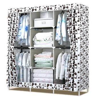 Hommy ตู้เสื้อผ้า 3 บล๊อคเปิดข้าง004 - ลายขวดนม