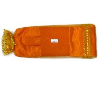 Clever Monk ผ้าไตร มัสลินครบชุด อย่างดีพิเศษ ขนาดใหญ่พิเศษ 2.0 ม. - สีทอง