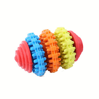 Rubber Pet Dog Puppy Cat Dental Teething Healthy Teeth Gums Chew Toy(3 laps)