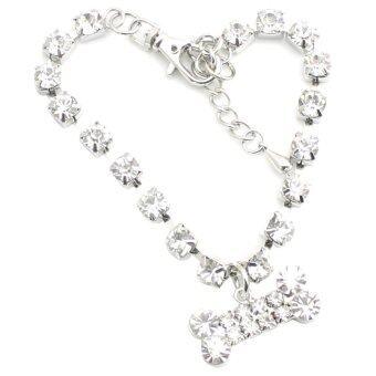Gracefulvara Pet Bone Necklace (White)