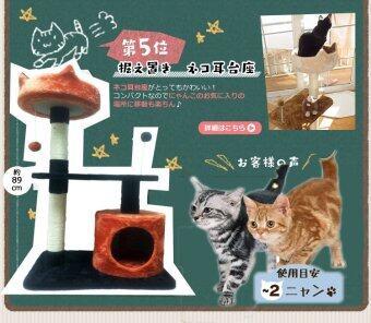 Fidea Baron Cat condo บารอน คอนโดแมว ไซส์เล็ก 87 CM (สีส้ม-กรม) แถมฟรี Pulire น้ำทำความสะอาด (image 3)