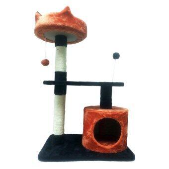 Fidea Baron Cat condo บารอน คอนโดแมว ไซส์เล็ก 87 CM (สีส้ม-กรม) แถมฟรี Pulire น้ำทำความสะอาด (image 0)