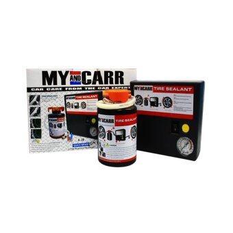My&CARR ปั๊มลมไฟฟ้า - รุ่นA28 พร้อม น้ำยาอุดรอยรั่ว