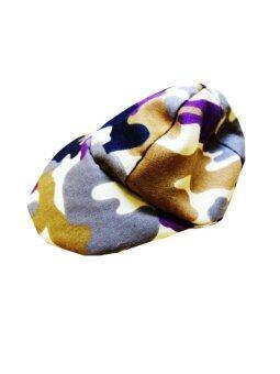 Dogacat หมวกสุนัข หมวกหมา หมวกแมว หมวกแกป ลายทหาร size 2 - สีน้ำตาล