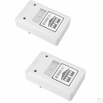 เครื่องไล่หนู แมลงสาป ยุง มดและแมงมุม Electronic LED Light Pest Repelling Aid (White)2ตัว