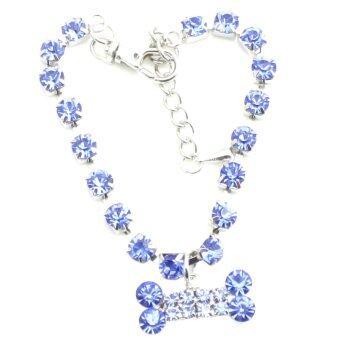 Gracefulvara Pet Bone Necklace (Blue)