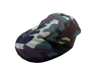 Dogacat หมวกสุนัข หมวกหมา หมวกแมว หมวกแกป ลายทหาร size 2 - สีเขียว